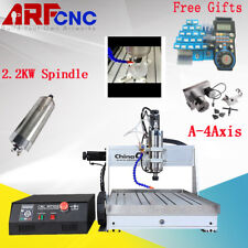 TOP USB CNC 4Axis 6040 2200W Router Engraver Milling Drilling Machine Desktop