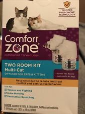 New listing Comfort Zone MultiCat Two Room Diffuser Kit for Cats Kittens - Retail Packaging