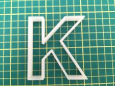 Alphabet Letter K cookie cutter