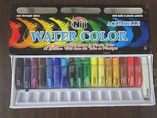 New Niji Water Color 18 Vibrant Colors in 6 cc tubes - Set of 18 Watercolor