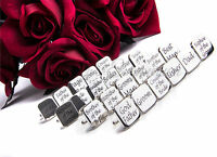 Cufflinks Wedding Groom Mens SQUARE SILVER cuff link best man usher page gift UK