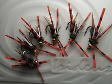 Irideus prince nymph Bloody Prince leggy trout flies steelhead fly Fishing Sac