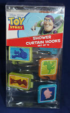 TOY STORY SHOWER CURTAIN HOOKS Disney Pixar Movie Kids Bathroom Childrens NEW