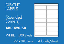 Hovat Multi-Purpose 14 to view 99 x 38.1mm Self adhesive label ( 500 Sheets )