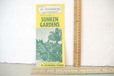 ST PETERSBURG FL & VICINITY MAP~SHOWING SUNKEN GARDENS LOCATION~VINTAGE BROCHURE