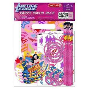 Justice League Girls DC Comics Superhero Birthday Party Toy 48 pc. Favor Pack