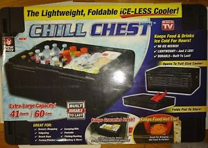 ONTEL Chill Chest Cooler 60 Cans Collapsible Insulated Lightweight Portable NEW