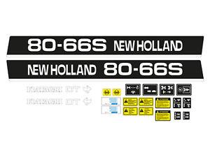 KIT ADESIVI TRATTORE NEW HOLLAND 80-66 S COMPLETO DI SIMBOLI E AVVERTENZE
