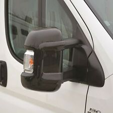 Fiat Ducato Peugeot Boxer Citroen Relay Black Mid Long Arm Mirror Protectors