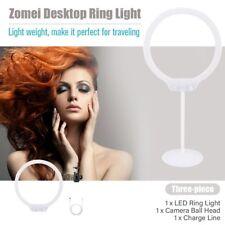 Zomei ZM-128 camera light desktop table LED Ring Light For Makeup Ring Lamp O4