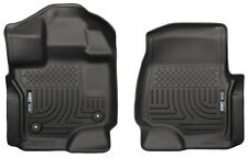 15-18 Ford F-150 F150 Husky Liners WeatherBeater Front Floor Mats Black 18361