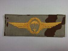 Bundeswehr Para Fallschirmspringerabzeichen BW gold auf Wüstentarn mgest. TTA