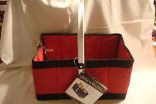 AMERICAN AIRLINES URBAN FOLD FLAT PICNIC BASKET #546-00-100 RED/BLACK
