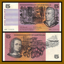 Australia 5 Dollars, 1967 P-39a Coombs / Randall Commonwealth Very Fine (Vf)