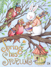 Spring Has Sprung Easter Bunny-Handcrafted Fridge Magnet-W/Mary Engelbreit art