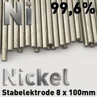 Nickel-Stab-Anode 99,6% Elektrode 10 cm x 8 mm Galvanik Rundstab Elektrolyt 100