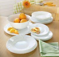 Set of 6 Luminarc Cadix Dinner Plate Side Plate Serving Bowl Crockery Dinner Set