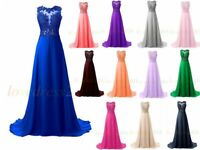 New Long Prom Dress Bridesmaid Cocktail Evening Party Ball Gowns Custom Size Hot