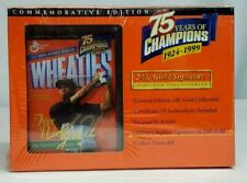 TIGER WOODS 24K Gold Signature WHEATIES Mini Box COMMEMORATIVE Ed NEW SEALED