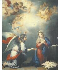 Catholic Print Picture ANNUNCIATION w/ Angel by MURILLO 20x25cm ready to frame