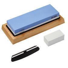 Whetstone Sharpening Stone Knife Sharpening 1000/6000 Dual Sides Bamboo Holder