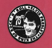 "New Elvis Presley 3"" Inch Iron on patch Free Shipping The King of Rock and Roll"