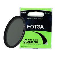 FOTGA Slim Fader Variable Adjustable 58mm ND Filter ND2 to ND400 ND8 ND100 58 mm