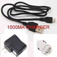 micro usb/wall/car charger for Htc Wildfire Thunderbolte T528 T329 T328W _xn