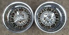 Vintage Tru Spoke 15x10 wheels Hot Rod Old School Chevy Ford Deep Dish J12837