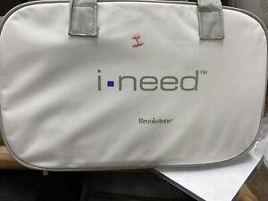 Brookstone  I-NEED  Lumbar Back Shiatsu Massage Pillow Massager Travel Bag