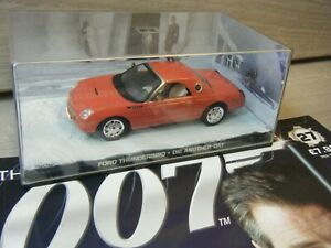JAMES BOND CAR COLLECTION FORD THUNDERBIRD DIE ANOTHER DAY ISSUE 27+MAGAZINE