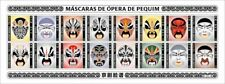 More details for guinea-bissau cultures stamps 2020 mnh peking opera masks traditions 16v m/s