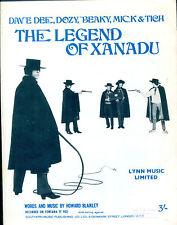 Dave Dee, Dozy, Beaky, Mich & Tich : Xanadu : original UK 1960's Sheet Music
