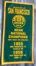 San Francisco Dons NCAA 1955 & 1956 National Championship Basketball Banner