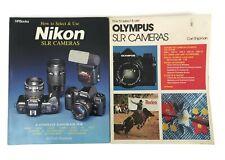 Nikon & Olympus Slr Camera How To Select & Use Book Lot Carl Shipman Photography