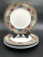 3 CHRISTOPHER STUART Optima LA BREA Pattern Salad Plates
