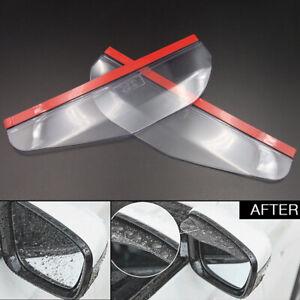 White Car Rearview Mirror Sun Shade Water Blade Shield Rainproof Eyebrow Guard