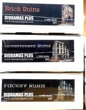 Dioramas Plus Specially Priced 3 kit Combo! 1/35 Diorama Base Building Ruins