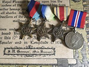 Rare WW2 Royal Navy Medal Group to HMS Ajax Battle Of The River Plate Naval