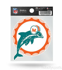 Miami Dolphins Retro Logo Static Cling Sticker NEW!! Window or Car! Reusable
