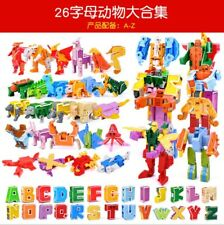 26 English letter Transformation Alphabet Dinosaur Robot Animal Building Blocks