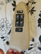 02-05 Chevy Trailblazer Master Driver Window Switch Light Tan Bezel OEM