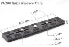 PU200 Quick Release Arca Swiss Benro Plate Ballhead Tripod PU-200 UK Seller