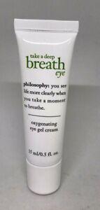 PHILOSOPHY Take a Deep Breath Oxygenating Eye Gel Cream .5oz NEW Full Size