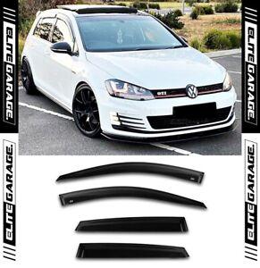 Fits Volkswagen Golf - MK7 MK7.5 R GTI TSI Side Window Visors Weathershields VW