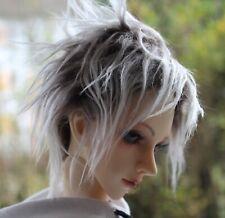 Dollfie BJD SD wig Perücke Fur size 8-9 Brown/white, selfmade!!!
