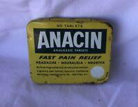 *Vintage Medicine Tin ANACIN ASPIRIN 30 TABLET TIN ** EMPTY**