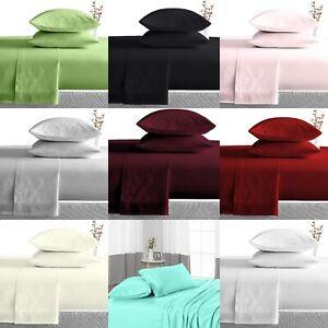 Egyptian Bedding Twin Size Bed Sheets 600TC Deep Pocket Set 4 Piece Sheet set