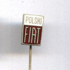 Vintage POLSKI FIAT (125p 126p) Car Emblem Enamel Lapel Pin Badge