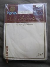 Pantyhose HANES Silk Reflections Control Top Sandalfoot Size EF White Sealed #2